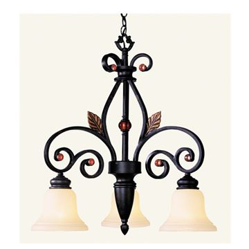 Livex Lighting Tuscany 3 Light Down Shade Chandelier