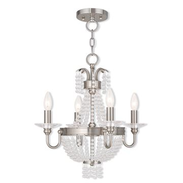 Livex Lighting Valentina 4 Light Chain Or Mini Chandelier Light