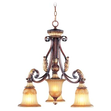 Livex Lighting Villa Verona 3 Light 23 3/4 Inch Chandelier