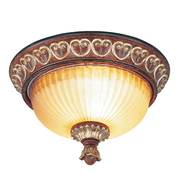 Livex Lighting Villa Verona Flush Ceiling Light