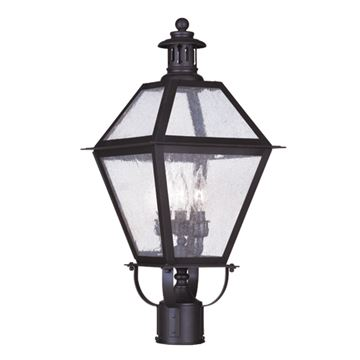 Livex Lighting Waldwick Outdoor 3 Light 10 1/2 Inch Post Head Light