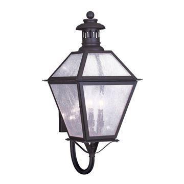 Livex Lighting Waldwick Outdoor 3 Light 12 1/2 Inch Wall Lantern