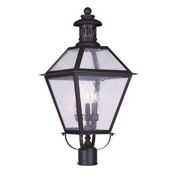 Livex Lighting Waldwick Outdoor 3 Light Post Head Light