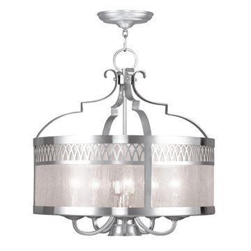 Livex Lighting Westfield Seeded Glass Chandelier