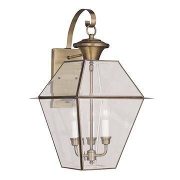 Livex Lighting Westover Outdoor 3 Light Wall Lantern