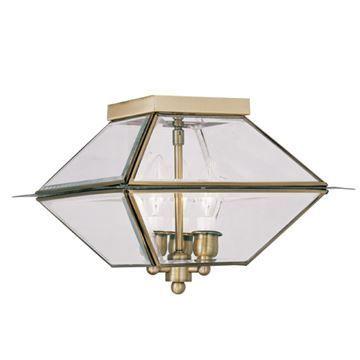 Livex Lighting Westover Outdoor or Indoor 3 Light Ceiling Mount