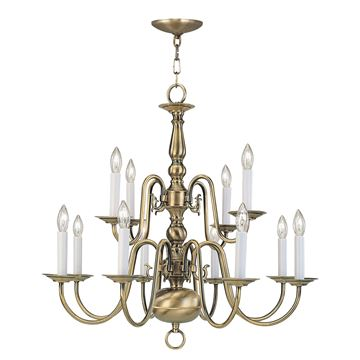 Livex Lighting Williamsburgh 12 Light Chandelier