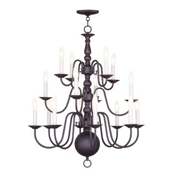 Livex Lighting Williamsburgh 16 Light 27 Inch Chandelier
