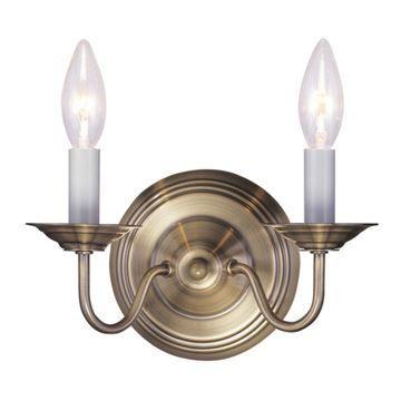 Livex Lighting Williamsburgh 2 Light Candelabra Wall Sconce