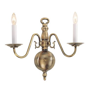 Livex Lighting Williamsburgh 2 Light Scroll Wall Sconce