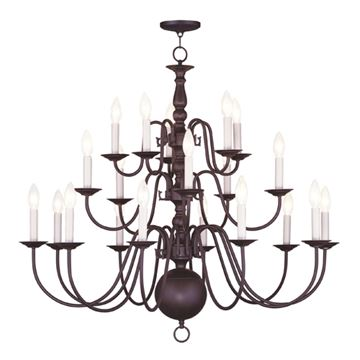 Livex Lighting Williamsburgh 20 Light 36 Inch Chandelier