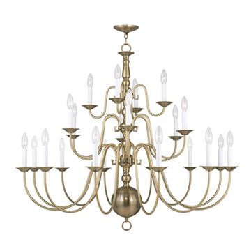 Livex Lighting Williamsburgh 22 Light 42 Inch Chandelier