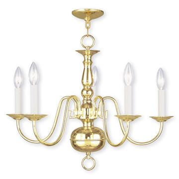 Livex Lighting Williamsburgh 5 Light 24 Inch Chandelier