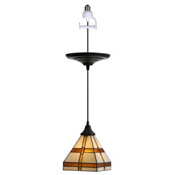 Worth Home Instant Pendant Light with Tiffany Shade