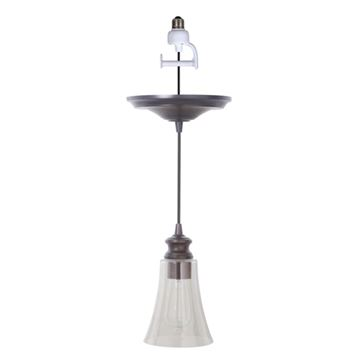 Worth Home Instant Pendant Light with 8 Inch Tulip Glass Shade