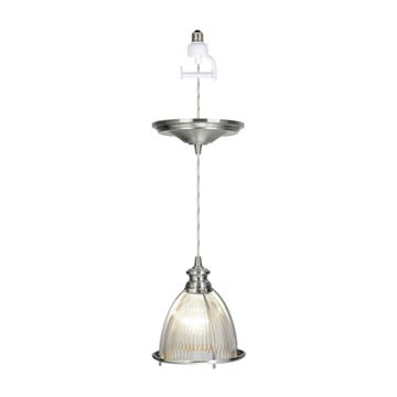 Instant Pendant Light with Halophane Glass Shade