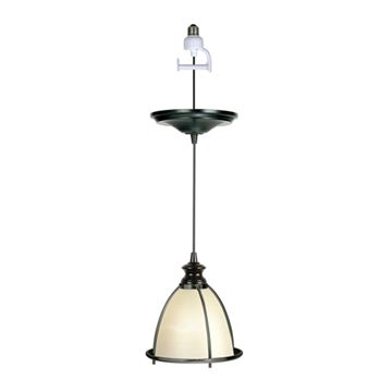 Worth Home Instant Pendant Light with White Shade