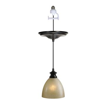 Worth Home Instant Pendant Light with Linen Glass Shade