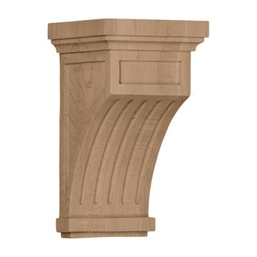 Restorers Architectural 10 Inch Fluted Mission Corbel