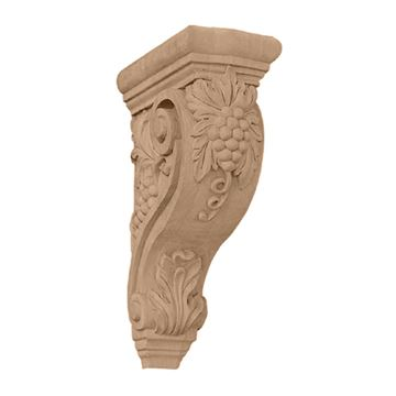 Restorers Architectural 13 1/4 Inch Devon Grape & Vine Corbel