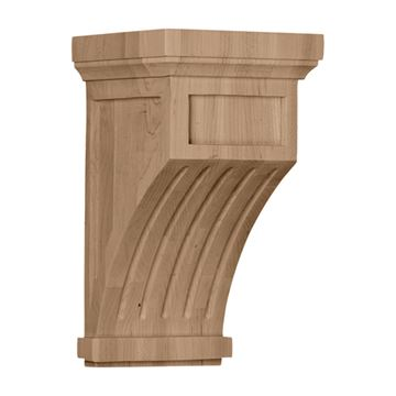 Restorers Architectural 13 Inch Fluted Mission Corbel
