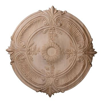 Restorers Architectural 20 Inch Acanthus Leaf Wooden Ceiling Medallion