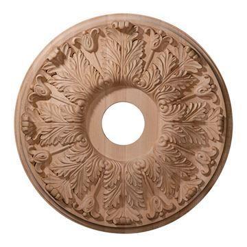 Restorers Architectural 20 Inch Florentine Wooden Ceiling Medallion