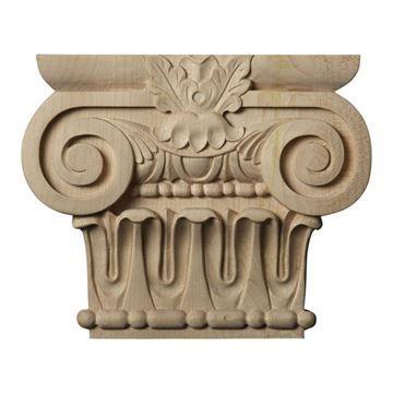Restorers Architectural 5 5/8 Inch Bradford Roman Ionic Capital