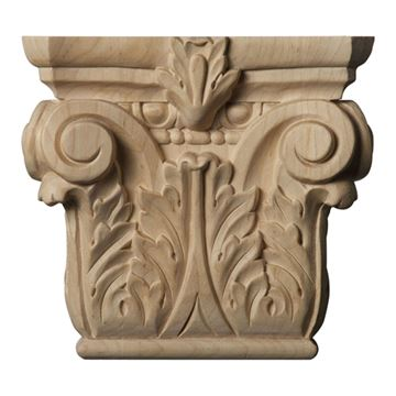 Restorers Architectural 5 5/8 Inch Floral Roman Corinthian Capital