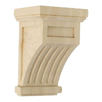 Restorers Architectural 7 Inch Fluted Mission Corbel