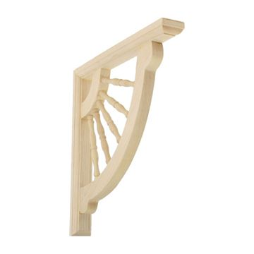 Restorers Architectural Crendon Wagon Wheel Shelf Bracket