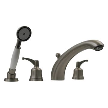 Whitehaus Blairhaus Adams Smooth Deck Mount Bath Tub Faucet With Hand Shower