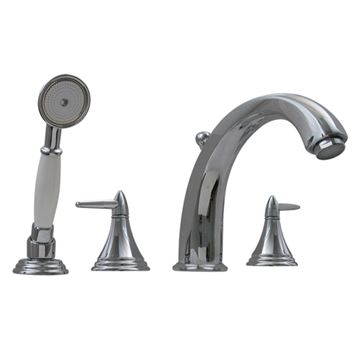 Whitehaus Blairhaus Jackson Deck Mount Bath Tub Faucet With Hand Shower