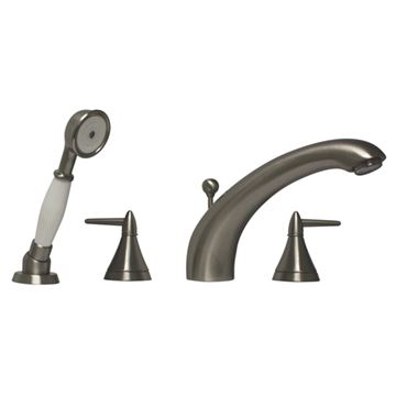 Whitehaus Blairhaus Jackson Smooth Deck Mount Bath Tub Faucet With Hand Shower