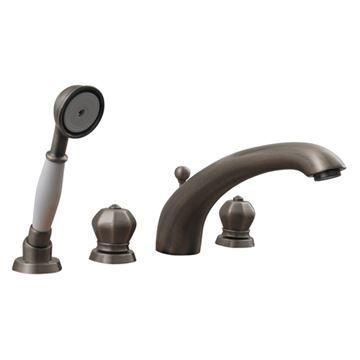 Whitehaus Blairhaus Washington Smooth Deck Mount Bath Tub Faucet With Hand Shower