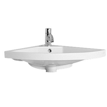 Whitehaus China Corner Wall Mount Basin Lavatory Sink