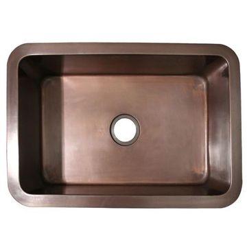 Whitehaus Copperhaus 30 Inch Smooth Undermount Kitchen Sink