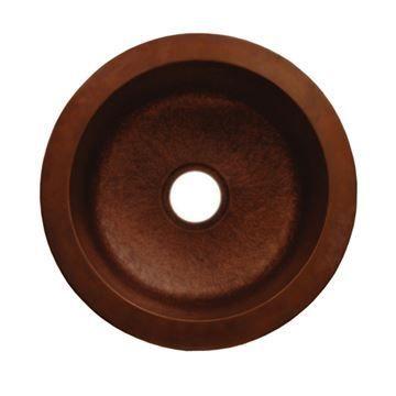 Whitehaus Copperhaus Smooth Round Drop In/Undermount Bar Prep Sink