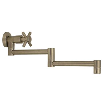 Whitehaus Decohaus Wall Mount Pot Filler With Cross Handle