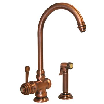 Whitehaus Evolution Colonial Single Hole Kitchen Faucet With Sprayer