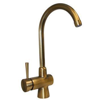 Whitehaus Evolution Single Hole Gooseneck Kitchen Faucet