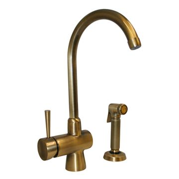 Whitehaus Evolution Single Hole Kitchen Faucet With Sprayer