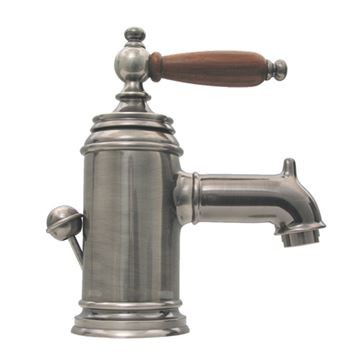 Whitehaus Fountainhaus Single Hole Lavatory Faucet - Wood Insert Handle