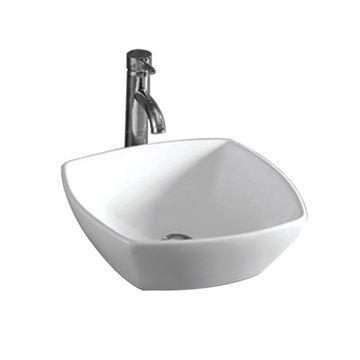 Whitehaus Isabella 16 1/2 Inch Square Vessel Sink