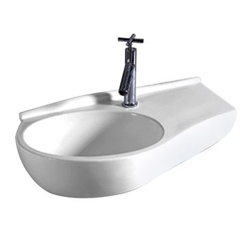 Whitehaus Isabella Curve Wall Mount Lavatory Sink