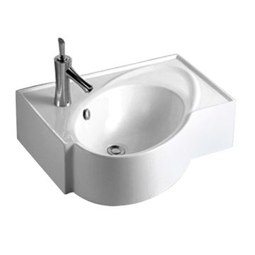 Whitehaus Isabella Rectangle Wall Mount Lavatory Sink With Oval Bowl