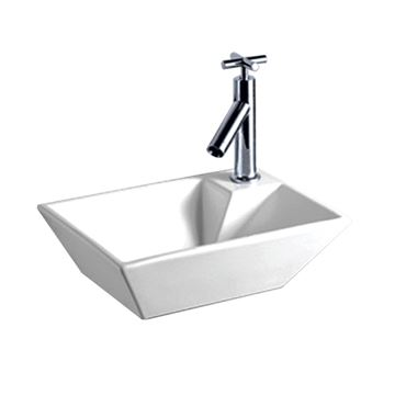 Whitehaus Isabella Rectangle Wall Mount Lavatory Sink With Right Hand Faucet Hole