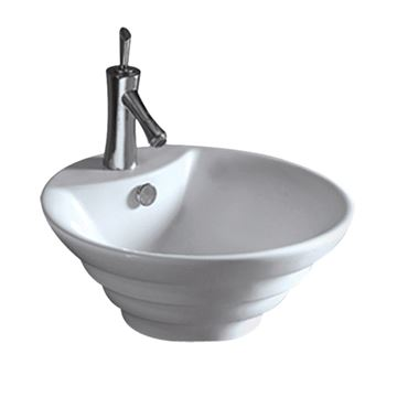 Whitehaus Isabella Round Stepped Vessel Sink with Overflow