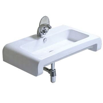 Whitehaus Isabella Rounded Edge Wall Mount Lavatory Sink
