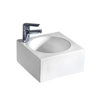 Whitehaus Isabella Square Single Hole Wall Mount Lavatory Sink